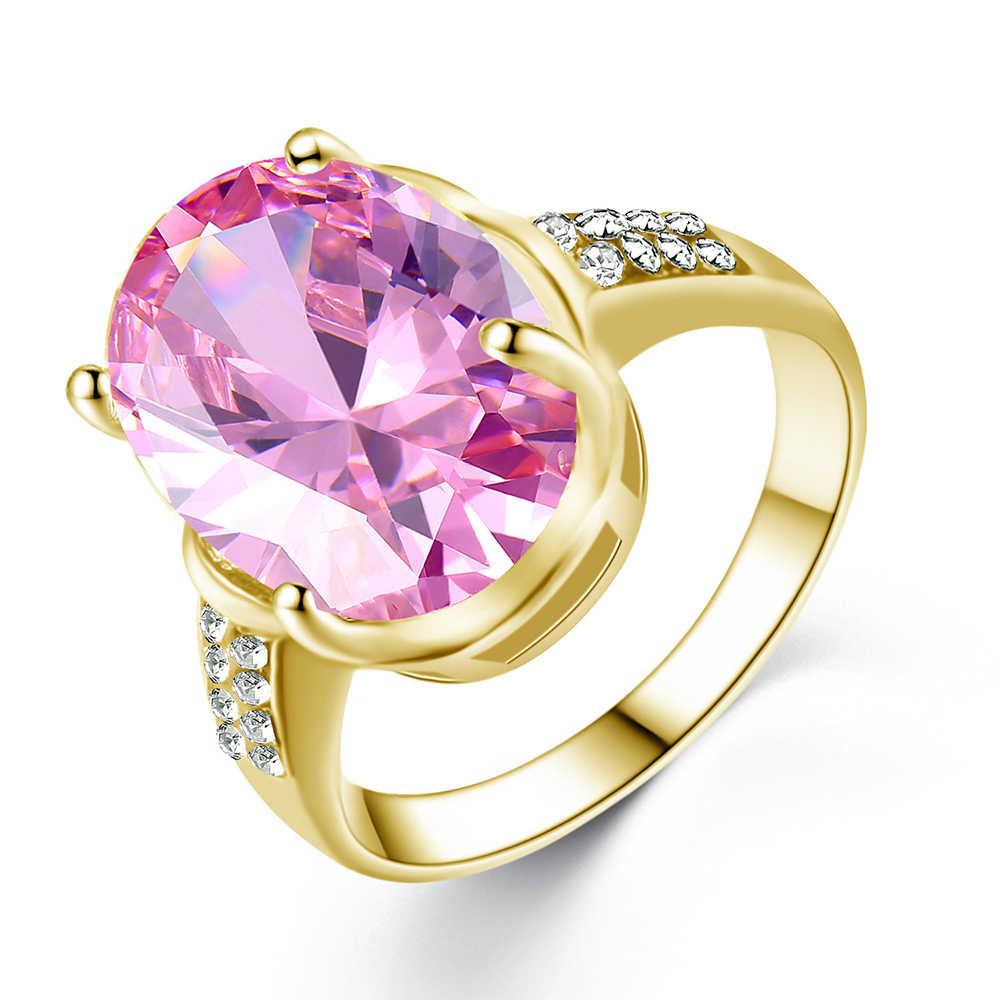 Mode Oval Prinzessin Zirkonia Farbe Ring, Verlobung, Hochzeit Ring Mode Wunderschöne Qualität Damen Schmuck Party Ring