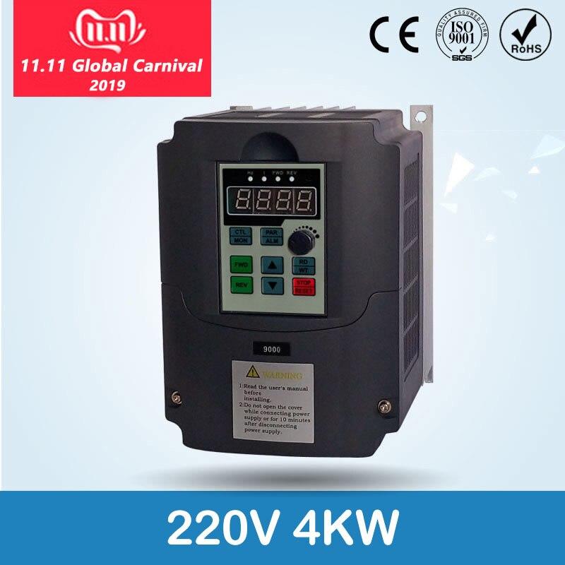 Pour la CE russe 220v 1.5kw/2.2/4kw 1 entrée de phase et convertisseur de fréquence de sortie de 3 phases/entraînement de moteur à courant alternatif/inverseur de VSD/VFD/50 HZ