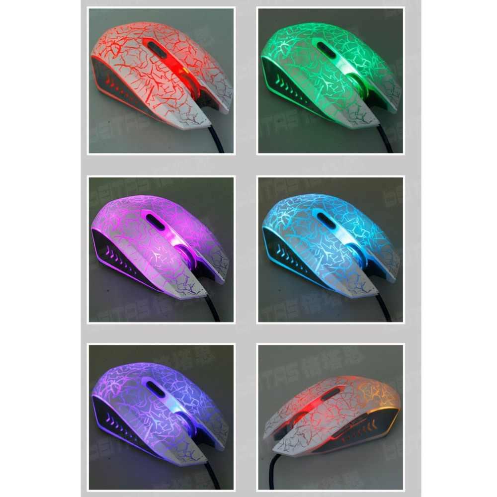 السلكية البصرية أضواء USB جهاز كمبيوتر شخصي محمول ألعاب ألعاب لعبة الألعاب ماوس الفئران
