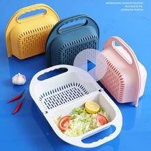 Складная пластиковая сливная корзина для овощей и фруктов Многофункциональная