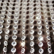All Colors 10 Meters Garland Strand Hanging Crystal Glass Bead Curtain Diamond Chains Party Tree Wedding Centerpiece Decor
