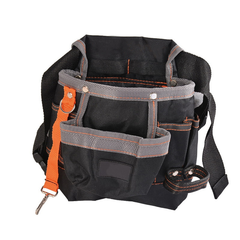 HLZS-Pouch Hand Tools Hardware Storage Tools Bag For Electrician 600D Oxford Cloth Waist Belt Bags Pocket Tool Storage Tool