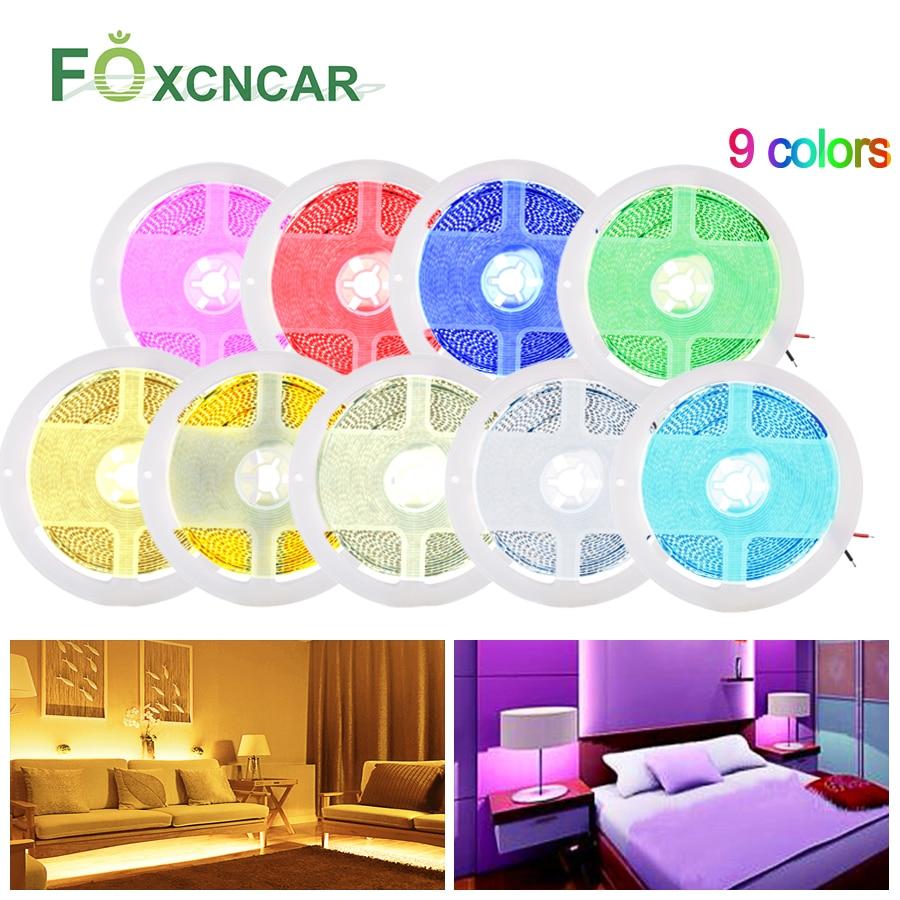 40W High Brightness 2025 LED Strip Light Kitchen Cabinet Light Bright Than 5050 2835 5M 12V Flexible Diode Tape Bedroom Lighting