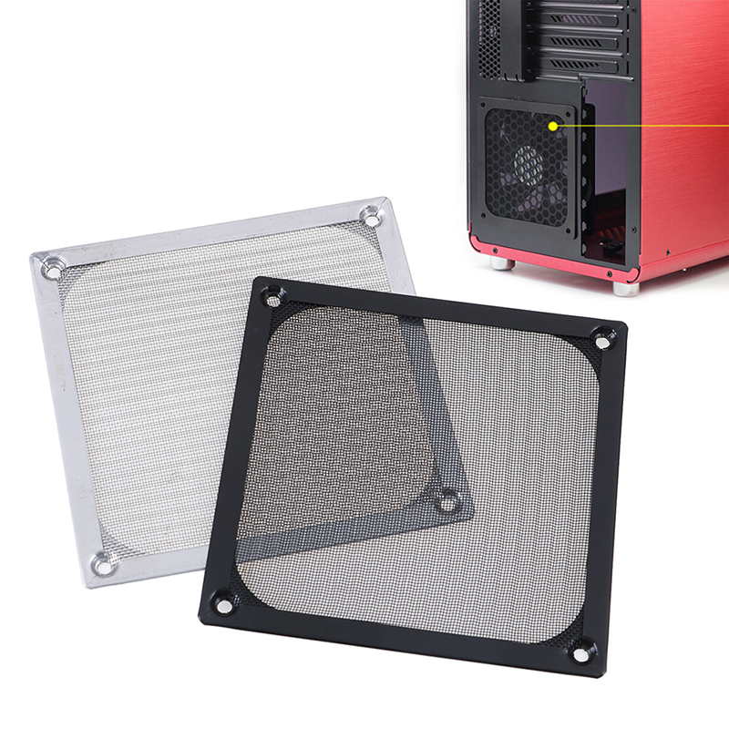 1Pc 12CM Mesh Dust Filter PC Cooler Fan Filter Dustproof Computer Case Cover