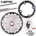 Кассета горного велосипеда ZTTO 10 Speed 11-50T 10 s 20s 30s, свободное колесо, велосипедная K7, Звездочка для запчастей XT SLX XO X0 X9 X7, запчасти для велосипеда