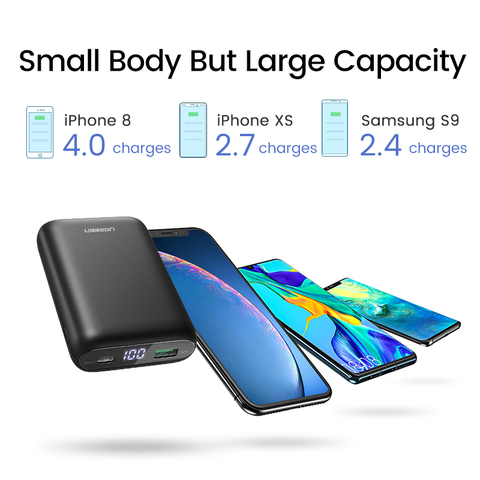 Ugreen Power Bank 10000mAh Quick Charge 4.0 3.0 QC3.0 External Mobile Battery Fast PD Charger for iPhone 11 8 Xs Mini Powerbank Islamabad