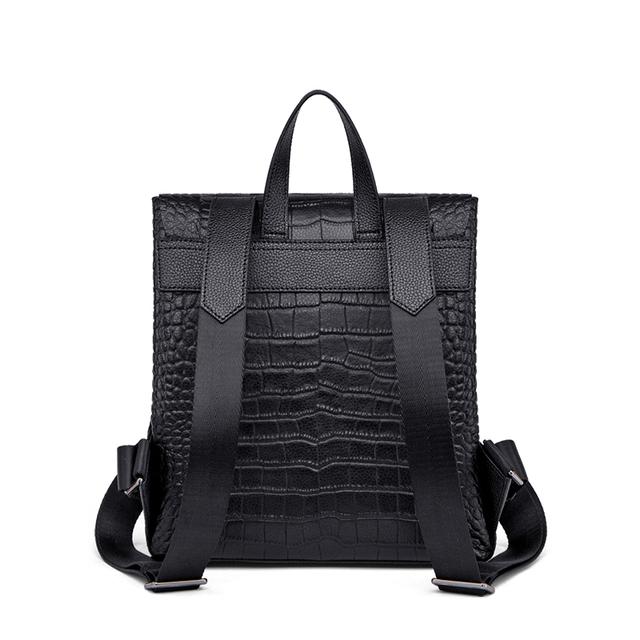 ZOOLER Genuine Leather Backpack Women Luxury Soft Real Cow Leather Backpack for Girls Green Elegant FemaleTravel Bags#LT323