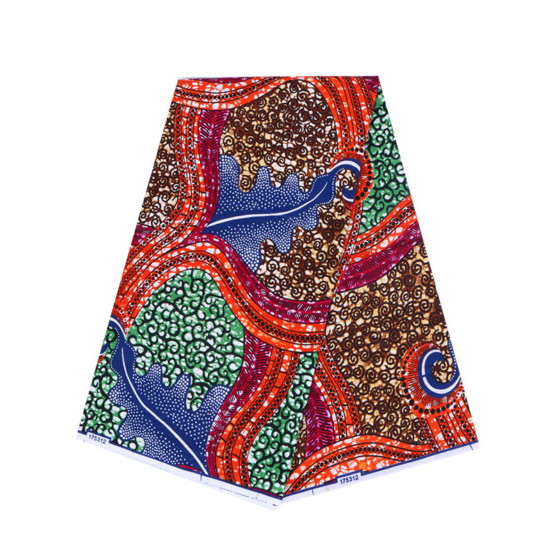 6 Yards 100% Cotton African Prints Wax Fabric High Quality Wax Ankara Fabric For Traditional Clothes WB-22