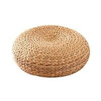 Japan Style Cushion Weave Chair Cushion Thicken Seat Cushion Round Tatami Mat Natural Straw Pad Meditation Home Decoration