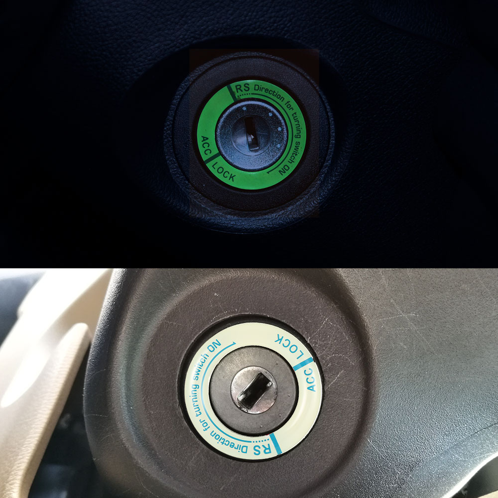 Sticker Ring-Hole-Cover Car-Ignition-Switch-Cover Auto-Products Luminous-Key 3D title=