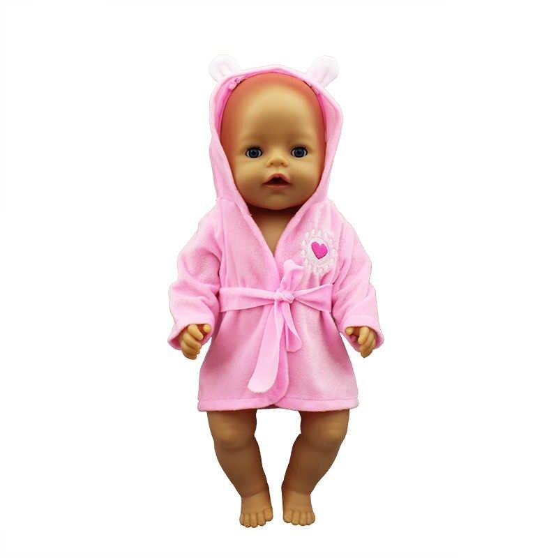Baru Jubah Mandi Pakaian Boneka Lahir Cocok 17 Inch 43 Cm Boneka Aksesoris untuk Bayi Festiival Hadiah