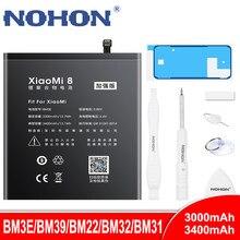 Аккумулятор NOHON BM3E BM39 BM22 BM32 BM31 для Xiaomi Mi 8 6 5 4 3 Mi8 Mi6 Mi5 Mi4 Mi3, литий-полимерные сменные батареи для телефона