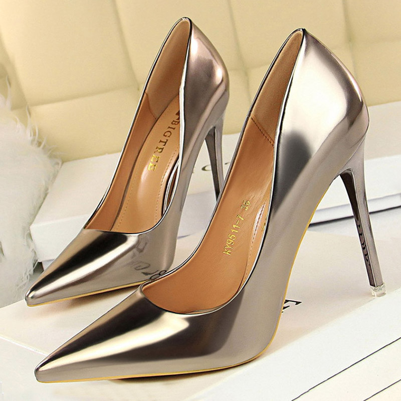 BIGTREE Shoes New High Heels Sexy Wedding Shoes Women Pumps Stiletto Sexy Party Shoes Female Heels Ladies Shoes Free Shipping