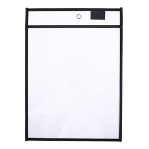 Image 4 - 30 Pack Dry Erase Pockets PVC Transparent Sewn Dry Erase File Bag Reusable Dry Erase Bag