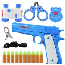 Bullet Pistol Simulation Interaction Game Toy Bullet Pistol Outdoor Activity Game Toy Gun Set Soft