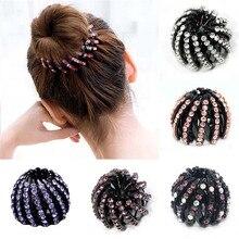 Женские заколки для волос с кристаллами, стразы для фиксации хвостиков, аксессуары для волос с шариками, заколка для волос