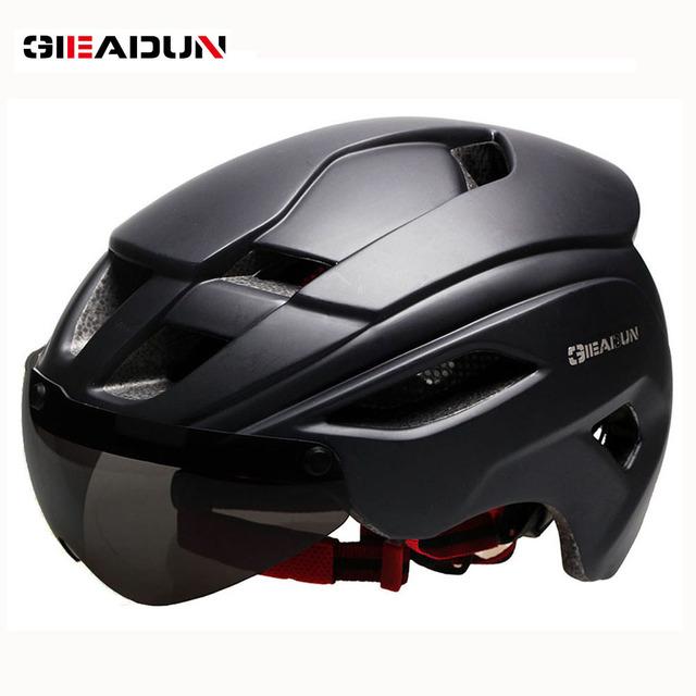 Bicycle Helmets Matte Black Men Women Bike Helmet  Mountain Road Bike Integrally Molded Cycling Helmets  Lenses