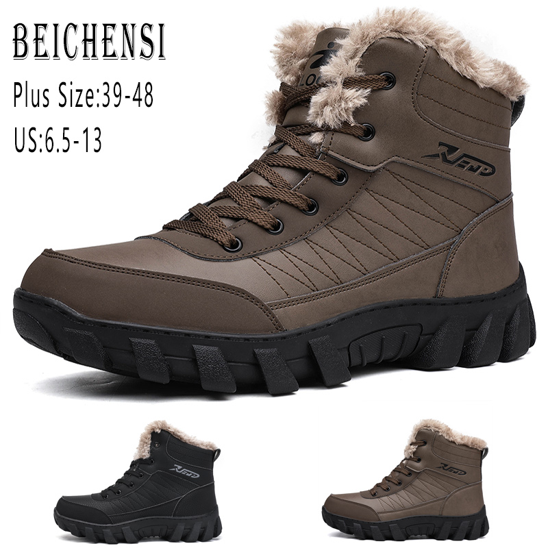 Men/'s Snow Boots Hiking Shoes Ankle Shoes Winter Warm Walking Big Size 39-48