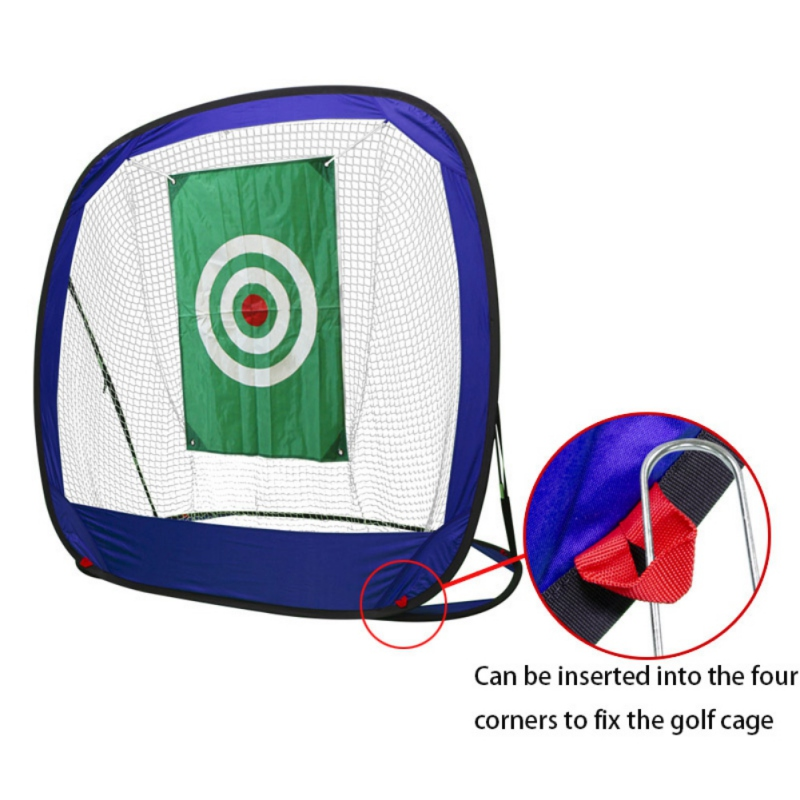 Foldable Golf Practice Net Golf Indoor Outdoor Chipping Pitching Cages Portable Golf Practice Training Aids Golf Accessory