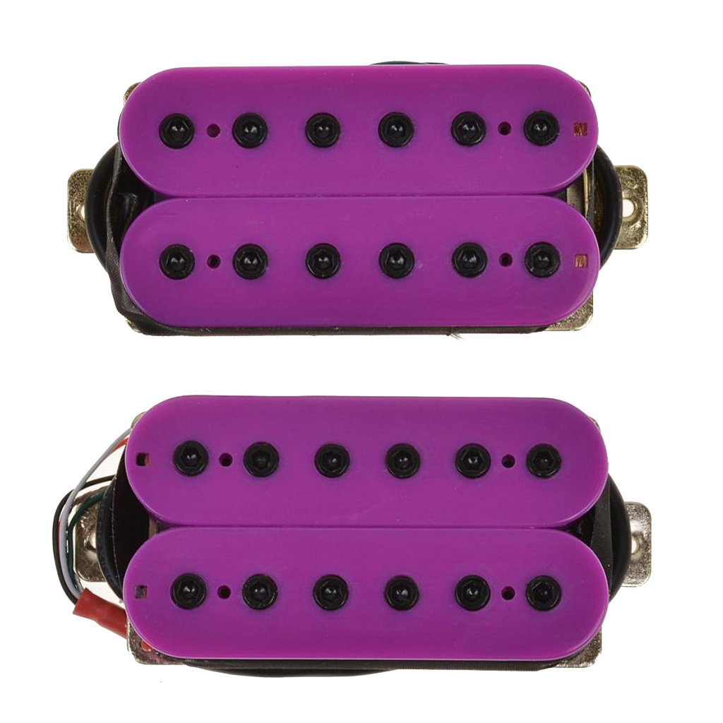Pack Of 2 Electric Guitars Humbucker Pickups Neck+Bridge Metal Baseplate Purple