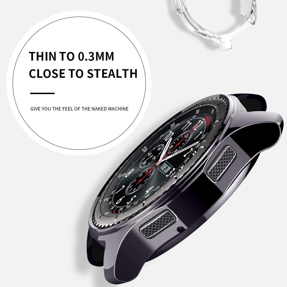 Case cover for samsung Galaxy Watch 3 46mm 42mm Gear S3 screen protector soft TPU plated All-Around protective face shell frames