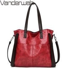 Women Soft Leather Handbag Vintage Sac A Main Female Crossbody Shoulder Bags Totes Designer Brand Large Capacity Top Handle Bags