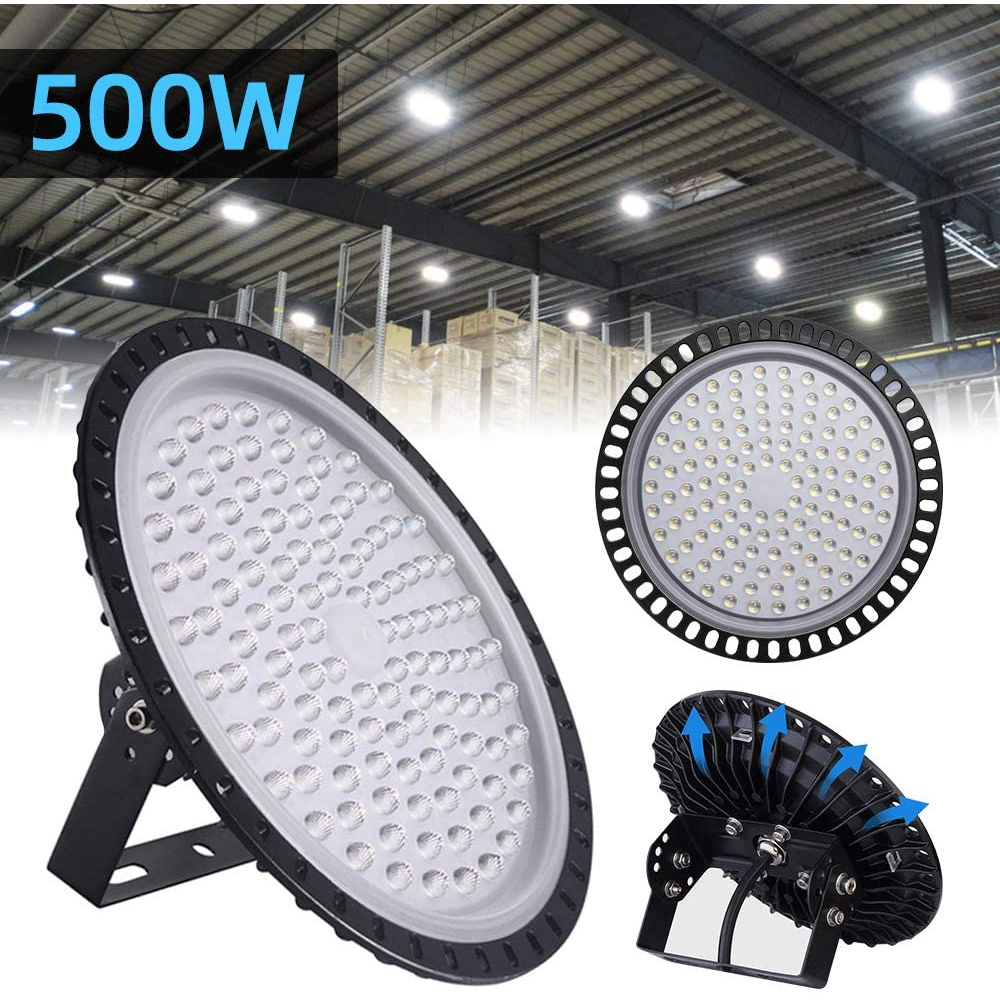 Ultraslim 50/100/200/300/500W UFO LED High Bay Lights Waterproof IP65 Commercial Industrial Lighting Warehouse Led High Bay Lamp