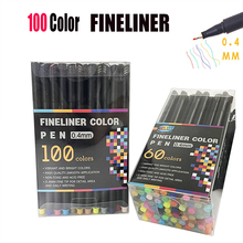 12-100 Colors Fineliner Color Planner Pens Fine Point Art Markers Tip For School Office Supplies Set Drawing Sketch