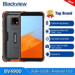 Blackview BV4900 Android 10 прочный IP68 Водонепроницаемый смартфон, 3 Гб оперативной памяти, Оперативная память 32GB Встроенная память IP68 мобильный телефо...