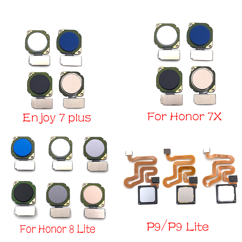 For Huawei Honor 9 Lite 7X 7S P Smart P20 Lite Fingerprint Sensor Home Button Finger Print Sensor Flex Cable