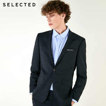 SELECTED Mens Slim Fit Plaids Wool Bussiness Blazer Suit Coat| 41835Z503 - DISCOUNT ITEM  49% OFF All Category