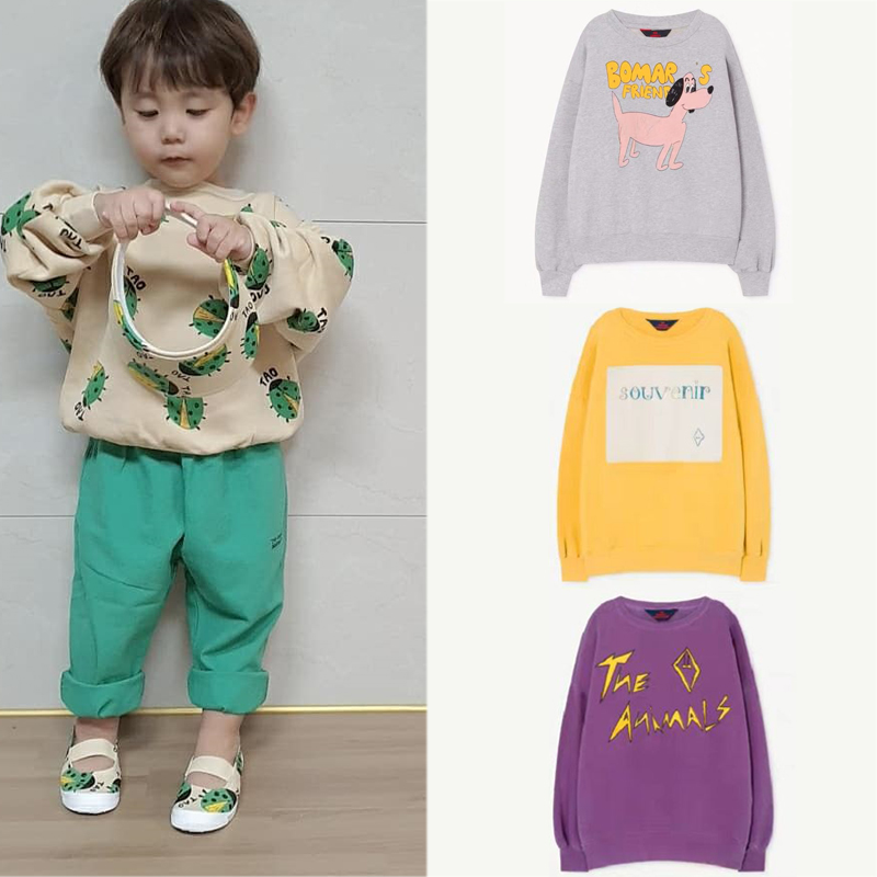2020 TAO Brand New Spring Kids Sweaters For Boys Girls Fashion Print Sweatshirts Baby Child Cotton Outwear Clothes