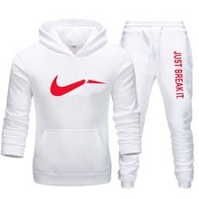 Brand men's sportswear clothing hoodie sweatshirt jacket and jogger sports pants men's printing suit sportswear track and field(China)