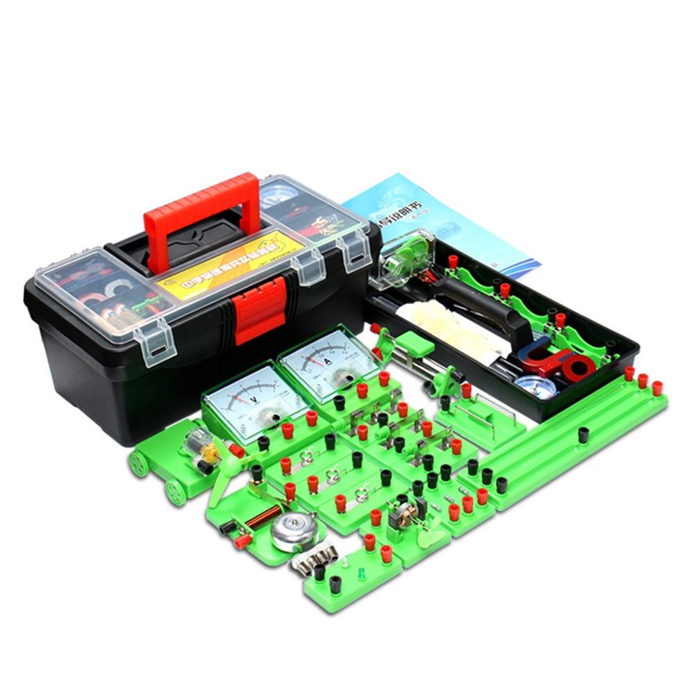 Электромагнитный Электромагнит, физический эксперимент, обучающая игрушка для детей с коробкой, научные игрушки для детей