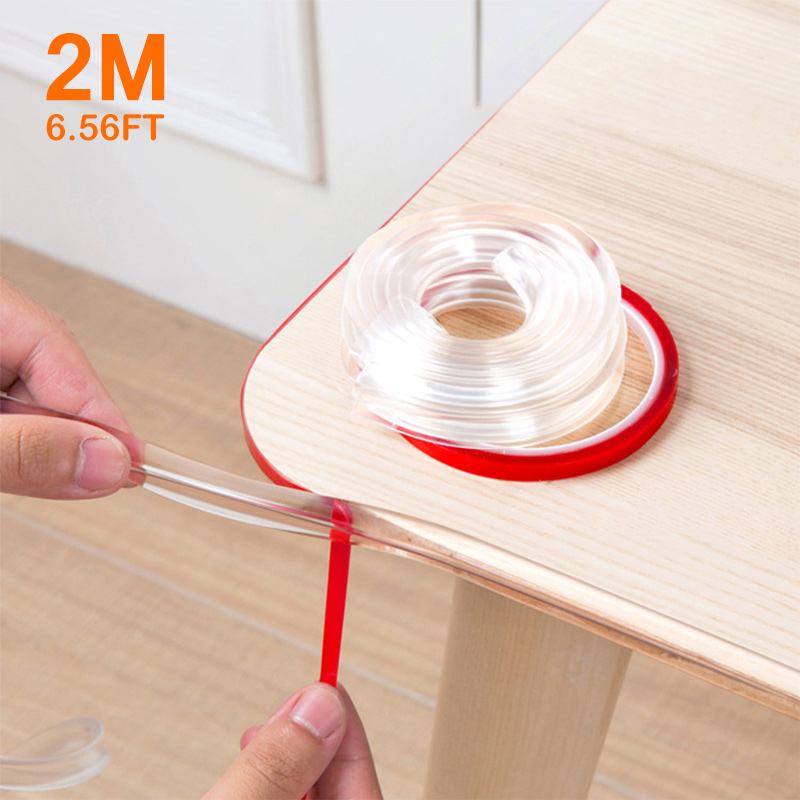 2M Baby Safety Corner Protection Strip Guards Infant Transparent Table Edge Furniture Corner Protectors Soft PVC Softener Bumper
