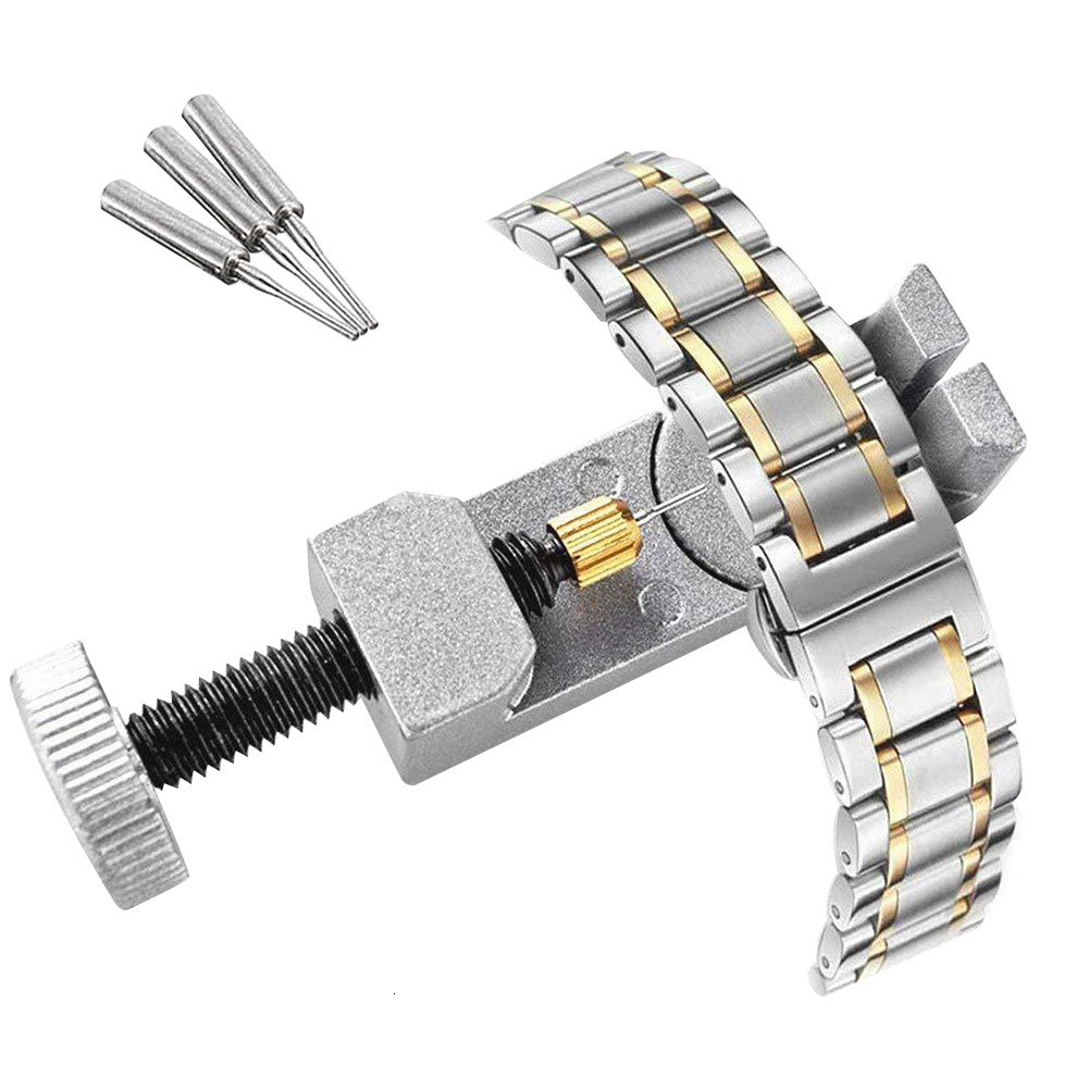Watch Band Link Adjust Slit Strap Bracelet Chain Pin Remover Adjuster Repair Tool Kit