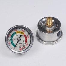 4500psi 300bar M10 pcp ضاغط ومضخة يدوية مقياس ضغط الفلورسنت