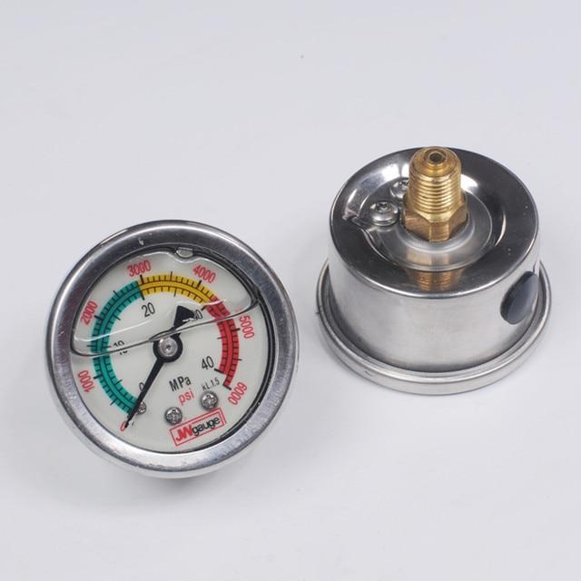 4500psi 300bar M10 pcp コンプレッサーとハンドポンプ蛍光圧力計