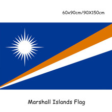 4pcs Double Side Printing Marshall Islands national flag 90x150cm polyester banner
