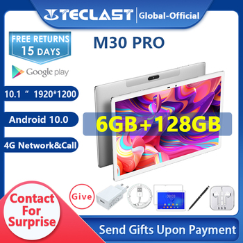 Teclast M30 Pro 10.1 Inch Tablet P60 8 Core 6GB RAM 128GB ROM Android 10 Tablets PC 1920x1200 IPS 4G Call Dual Wifi GPS 1