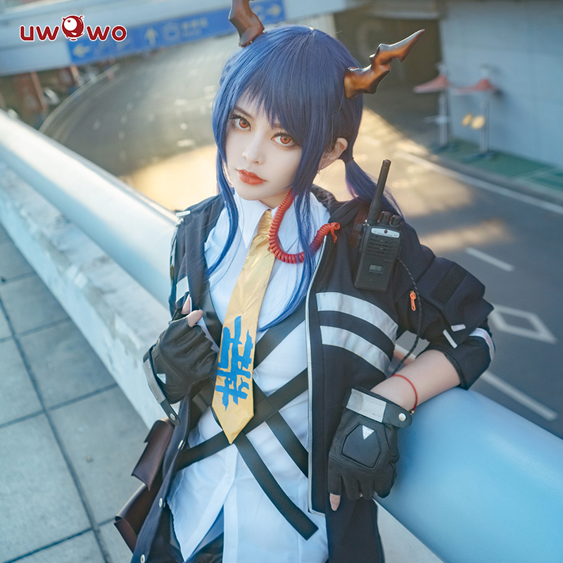 Uwowo Game Arknights Chen Cosplay Costume Cool Girl Uniform Party Dress