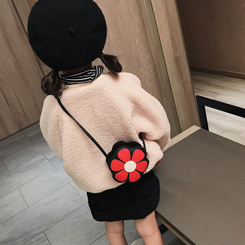 Baby Girls Toys Mini Messenger Bag Floral Kids Small Coin Purses Children Handbags Shoulder Bags
