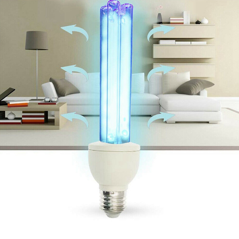 15W E27 UVC Ultraviolet Lamp Compact Germicidal Disinfection Quartz Light Lamp Without Ozone 220V