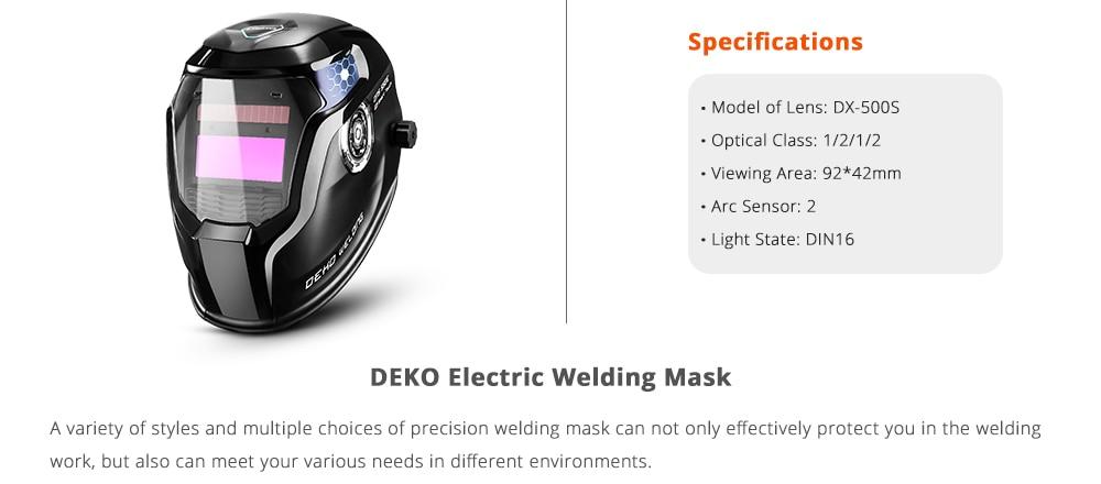 DEKO Electric welding mask