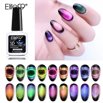 Elite99 10ml 9D Chameleon Cat Eye Gel Tränken Weg Magnetische UV/LED Nagel Lack Semi Permanent Nagel kunst Maniküre Gel Lack