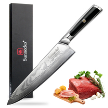 Sunnecko Professional 8 Damascus Chef Knife 73 Layers Japanese VG10 Steel Blade Razor Sharp G10 Handle Chefs Kitchen Knives