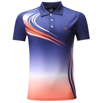 Marka sportowa koszulka do badmintona sportowa koszulka do gry w tenisa kobiety mężczyźni koszulka do gry w tenisa sportowego s odzież tenisowa koszulki do biegania tanie i dobre opinie HAMEK Poliester Krótki 3862 Anty-pilling Anti-shrink Przeciwzmarszczkowy Oddychająca Szybkie suche Koszule Pasuje prawda na wymiar weź swój normalny rozmiar