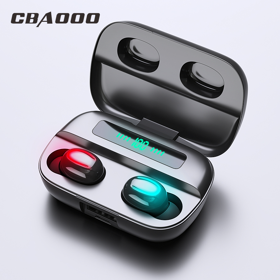 CBAOOO Q76 TWS 5.0 True Wireless Bluetooth Earphone Headphones For Xiaomi Redmi Headset Stereo Sound Earbuds Dual Microphone image