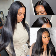 Perruque Bob Lace Frontal Wig brésilienne naturelle, cheveux lisses, 13x4, 5x5, Baby Hair, pre-plucked