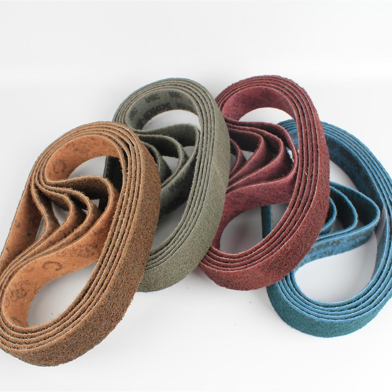 Raizi 760 *40 Mm Non-woven Nylon Sanding Belt For Stainless Steel Sander/polisher P150-600 Grinding Belt